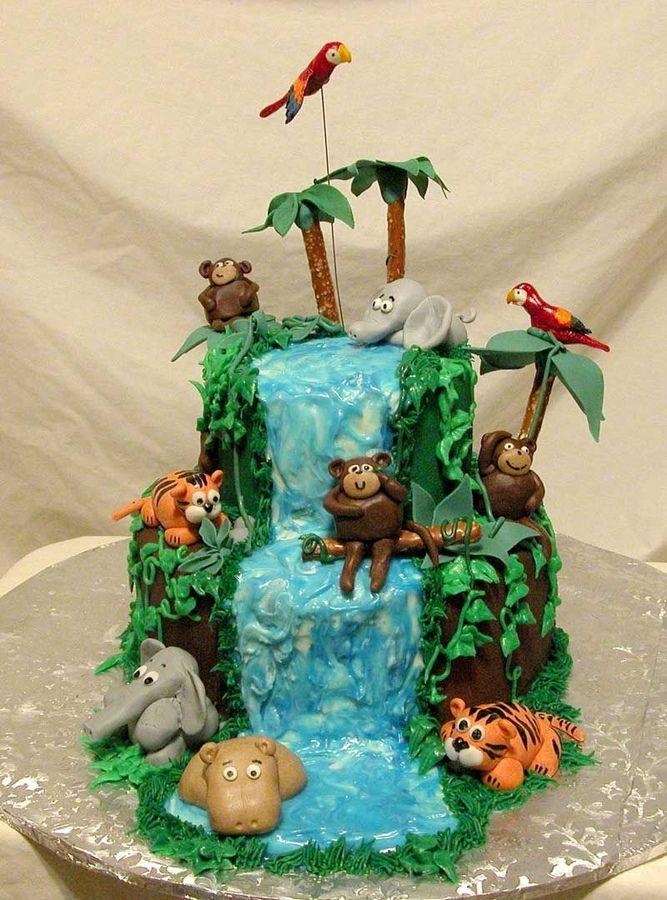Cake Ideas Birthday Cupcakes Fondant Baby Zoo Animal Cakes