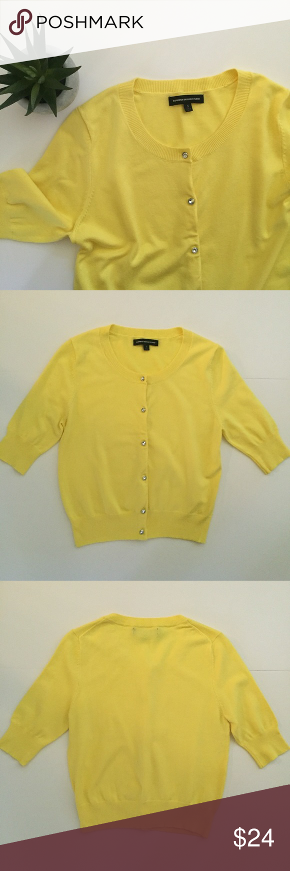 Express Bright Yellow Cardigan | Yellow cardigan, Bright yellow ...