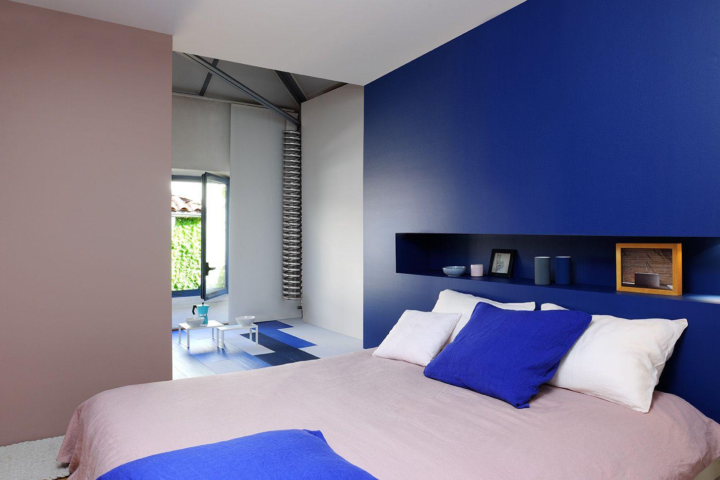 Tete De Lit Bleu Canard Peinture une tête de lit niche ultra décorative #zolpan #peinture