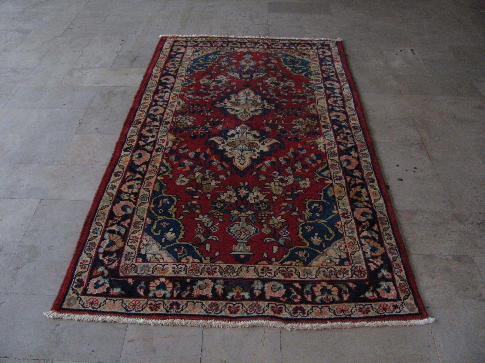 On Sale Beautiful Hand Knotted Persian Hamadan Geometric Area Rug