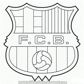 coloring pages barcelona fc jersey - photo#7