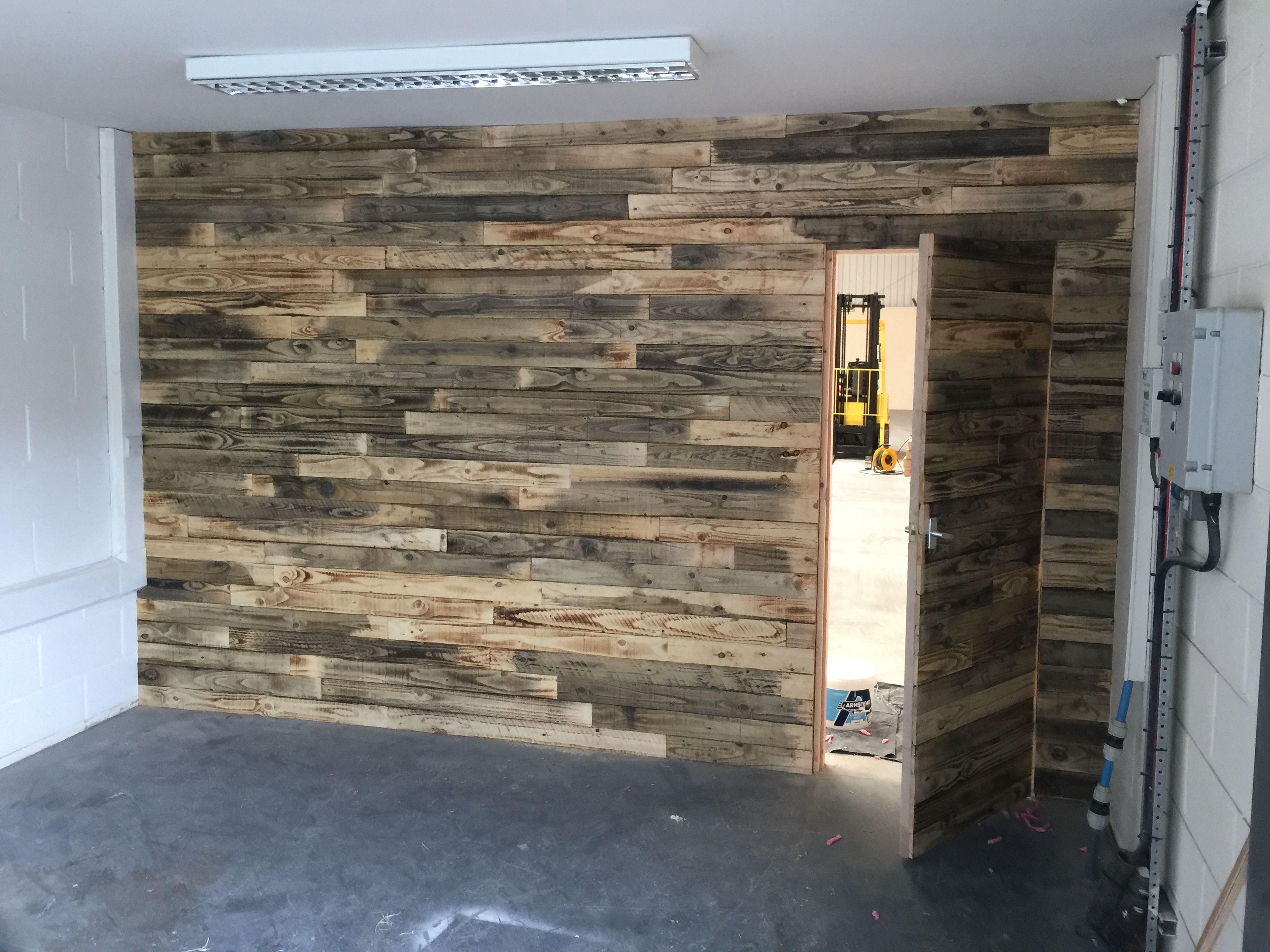 Rusty Woods Reclaimed Timber Pallet Feature Wall With Hidden Door