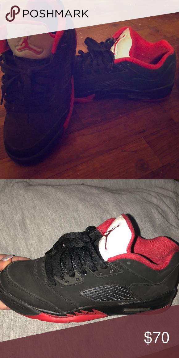 reputable site 81eab 43c42 Air Jordan 5s Black red and grey Jordan Shoes Sneakers | My ...