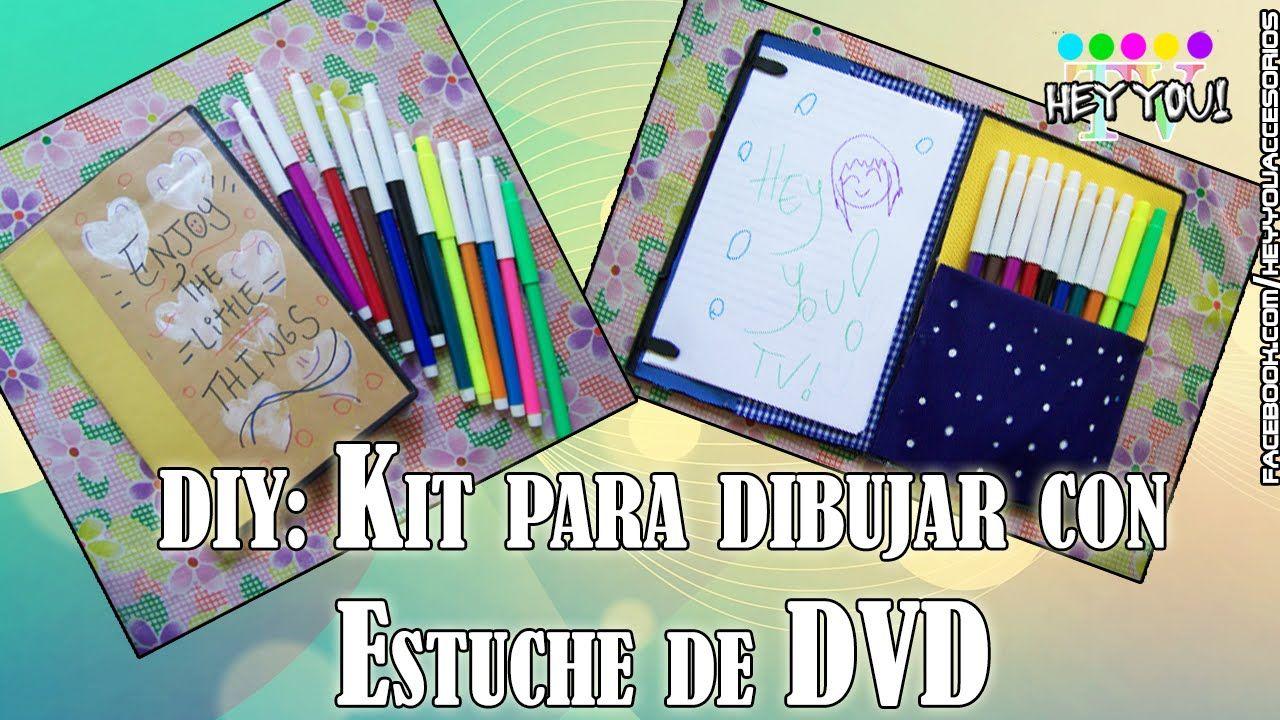 DIY: Kit para Dibujar con Estuche de DVD l Hey You TV!