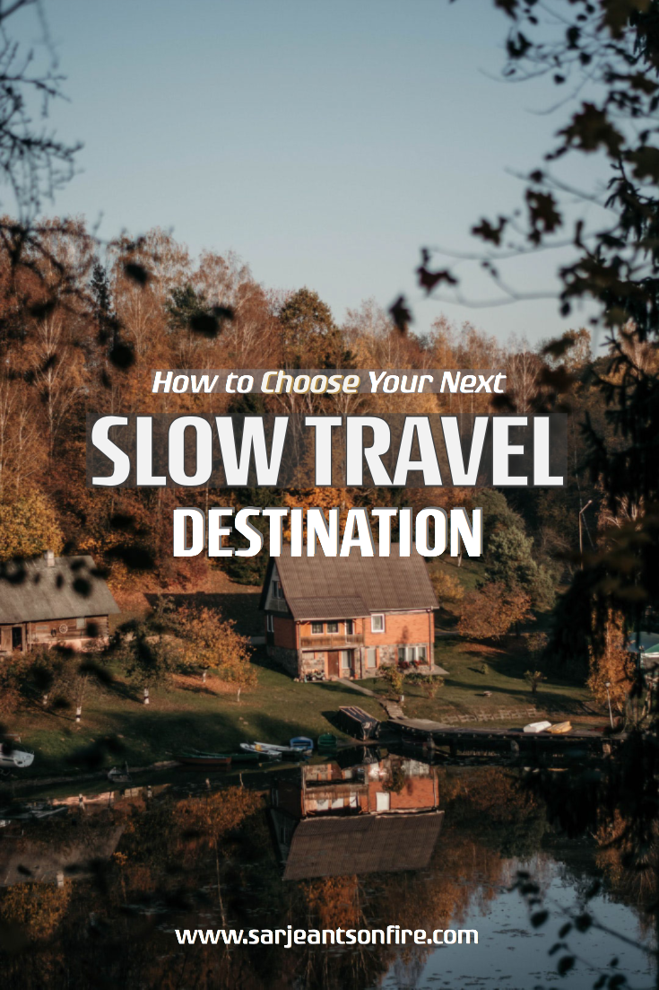 Not sure how to pick your next slow travel destination?  Check out our simple guide to choosing your next destination Traveling to all parts of the wo…