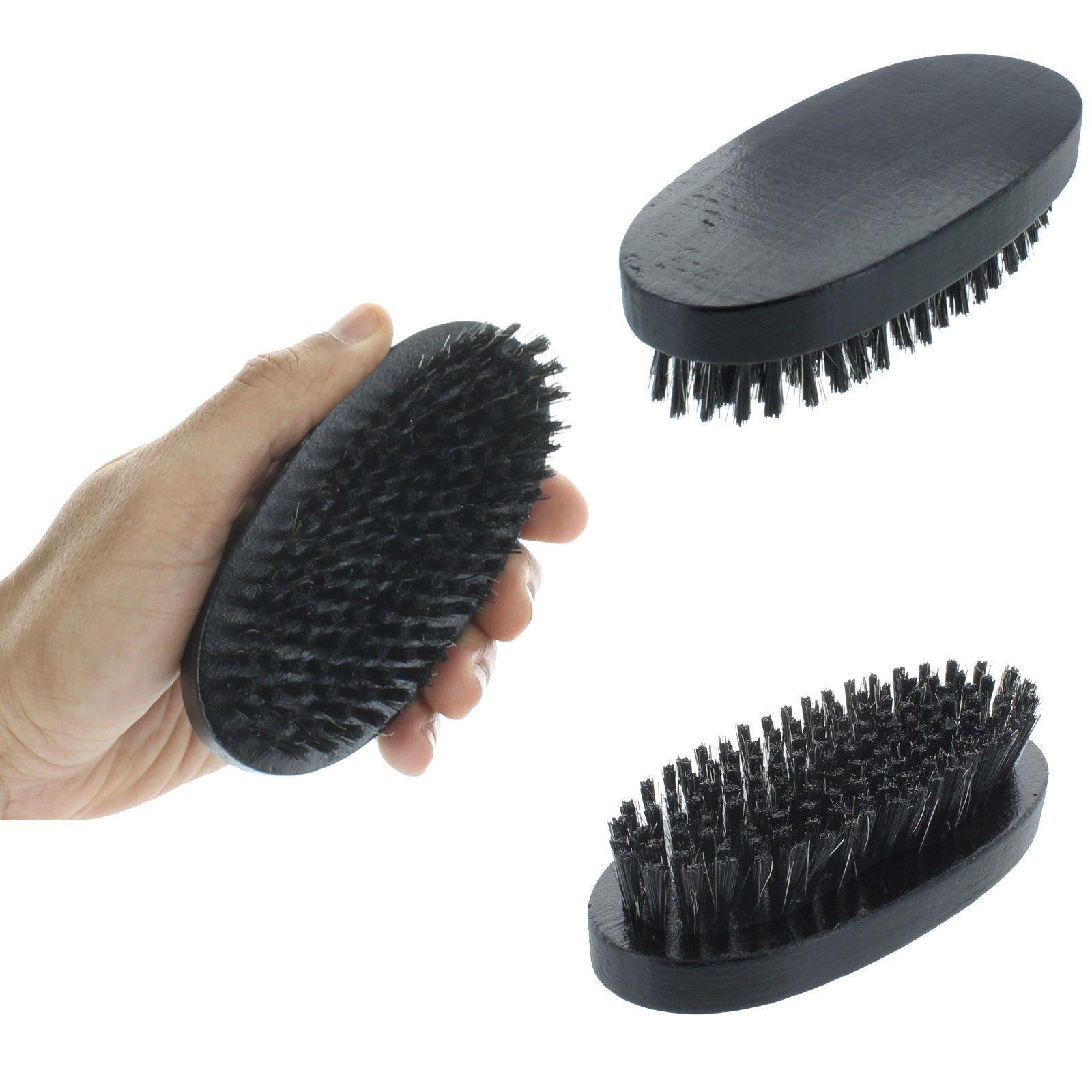Reinforced Boar Bristles Soft Palm Brush Light Wood Handle
