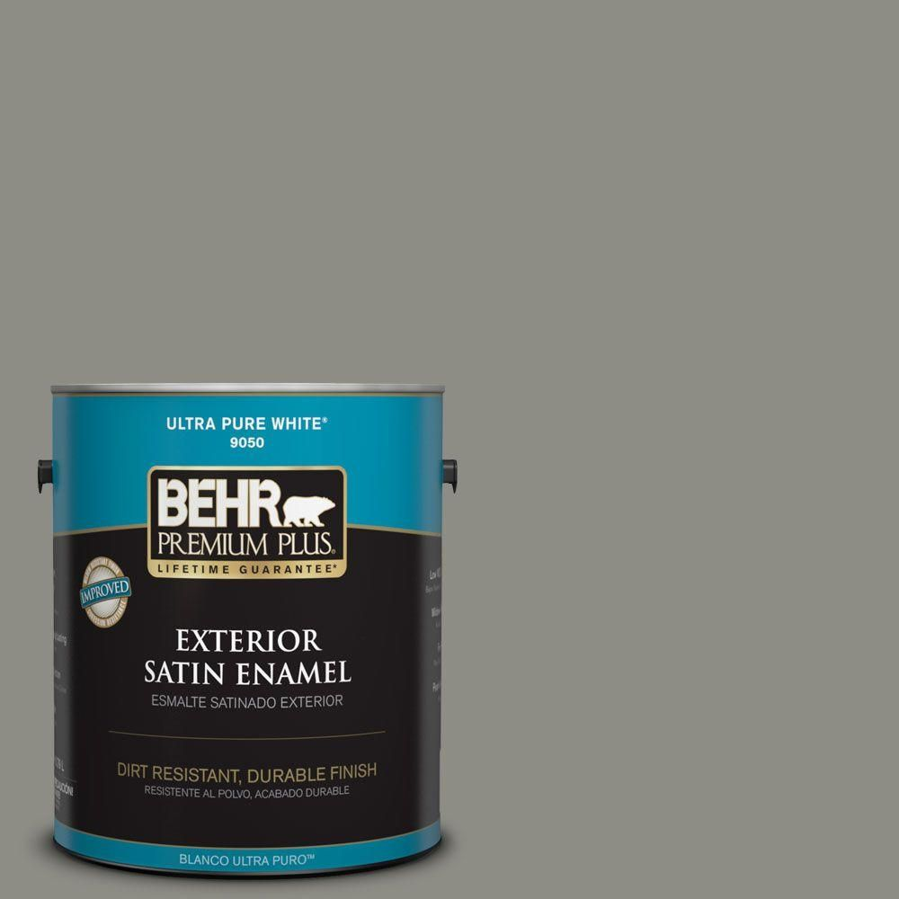 Behr Premium Plus 5 Gal N370 5 Incognito Flat Exterior Paint And Primer In One 440005 Exterior Paint Behr Behr Marquee