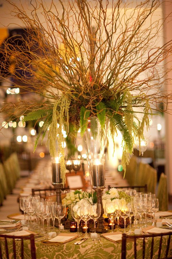 Photo Of The Day Tall Wedding Centerpieces Fern Centerpiece Wedding Centerpieces
