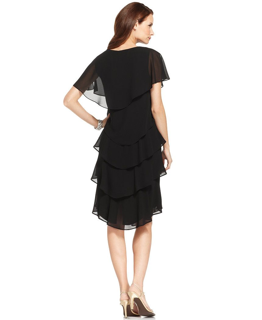 Patra shortsleeve tiered dress mother of the bride women