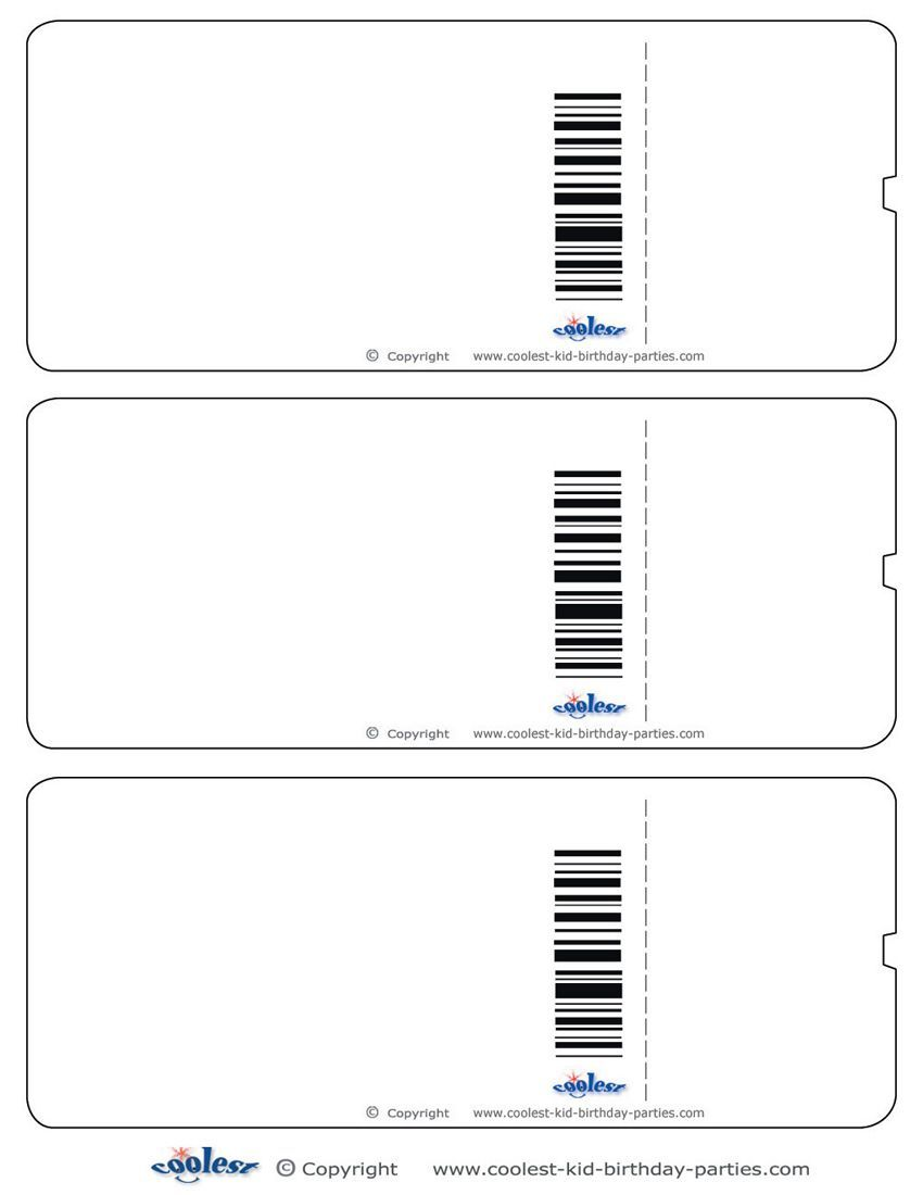 Blank Printable Airplane Boarding Pass Invitations Coolest