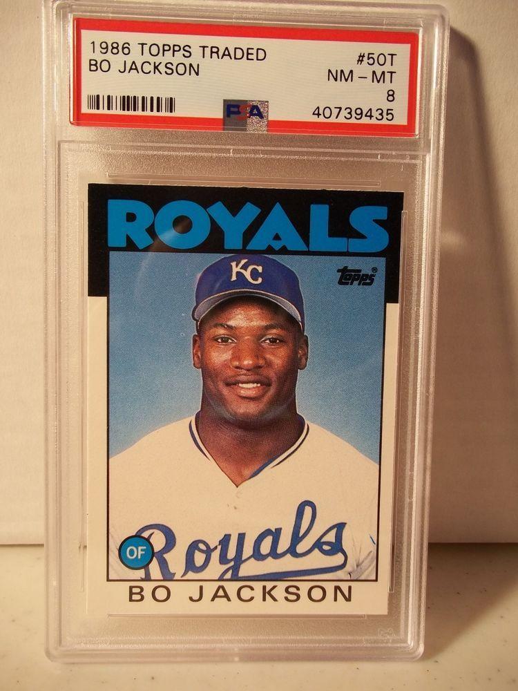 1986 topps traded bo jackson rookie psa nmmt 8 baseball
