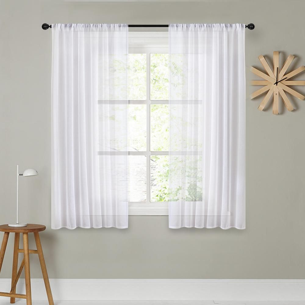 Cdiy Short Curtains For Kitchen Solid Voile Curtains For Living Room Modern Bedroom In 2020 White Sheer Curtains Short Window Curtains Curtains Living Room Modern #short #window #curtains #for #living #room