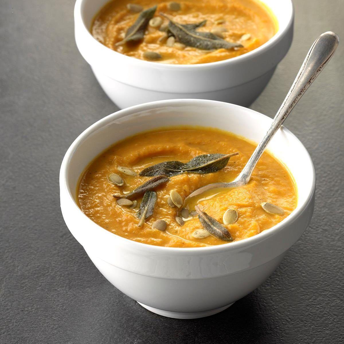 Smooth Creamy Pumpkin Soup Recipe Pumpkin Recipes Easy Pumpkin Recipes Creamy Pumpkin Soup