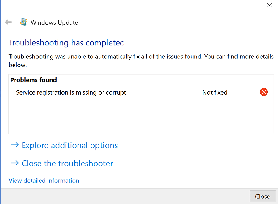 Fix Service Registration Is Missing Or Corrupt In Windows ...