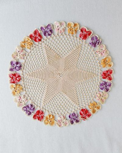 Ravelry: Vintage Pansy Star Doilies pattern by Maggie Weldon Designs