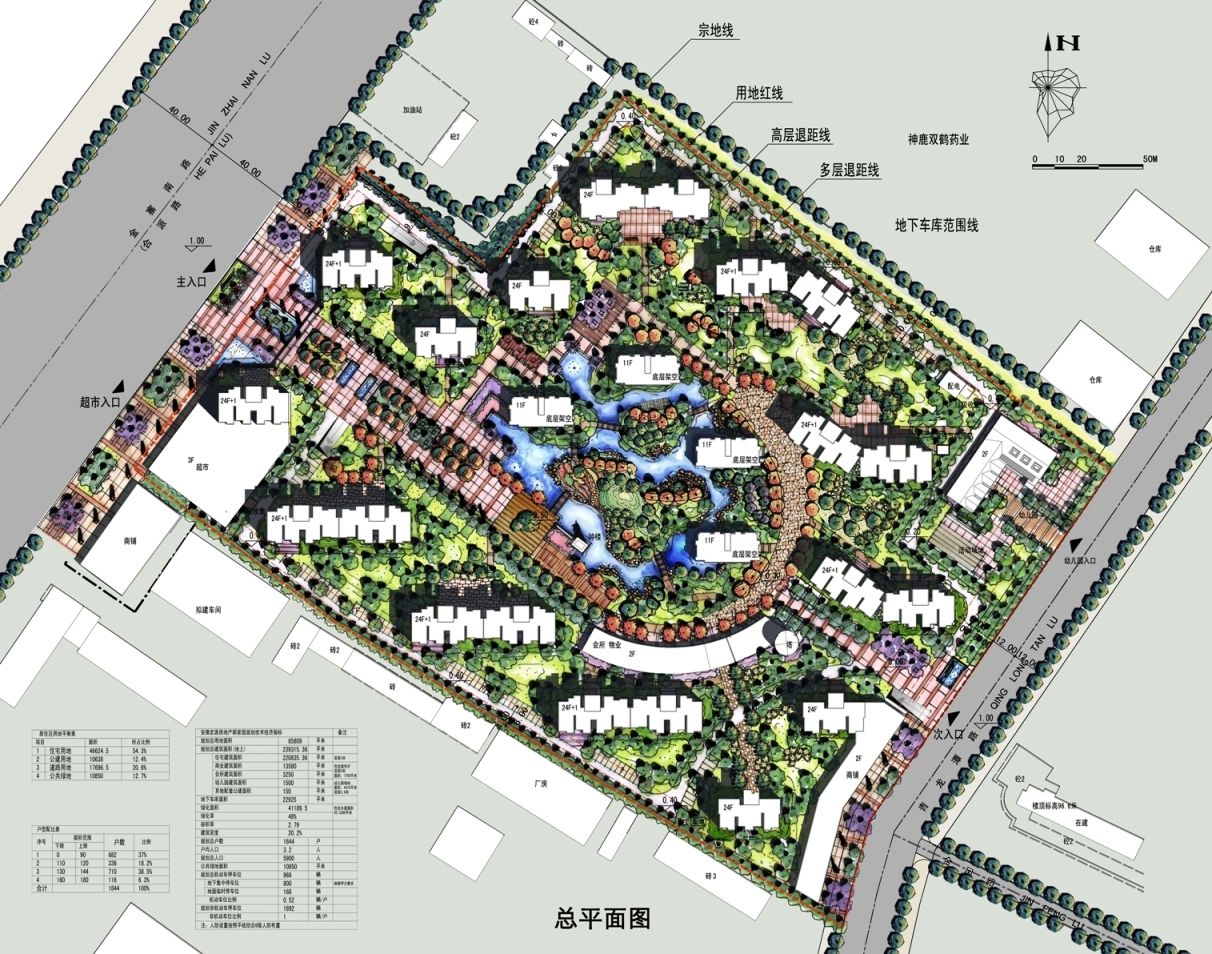 Residential In China Master Plan Landscape Plans Site Plan