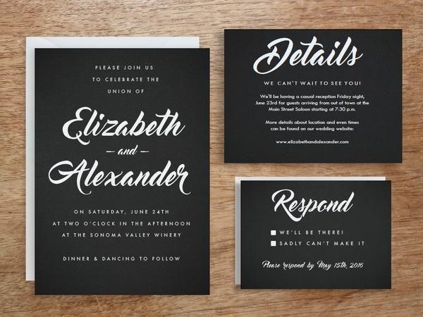 A Black And White Retro Cool Printable Wedding Invitation Set Whi Printable Wedding Invitations Wedding Invitations Printable Templates Wedding Invitation Sets