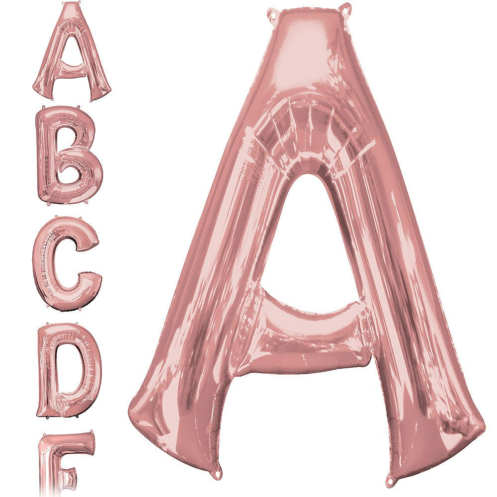 34in Rose Gold Letter Balloon (A) Rose gold letter