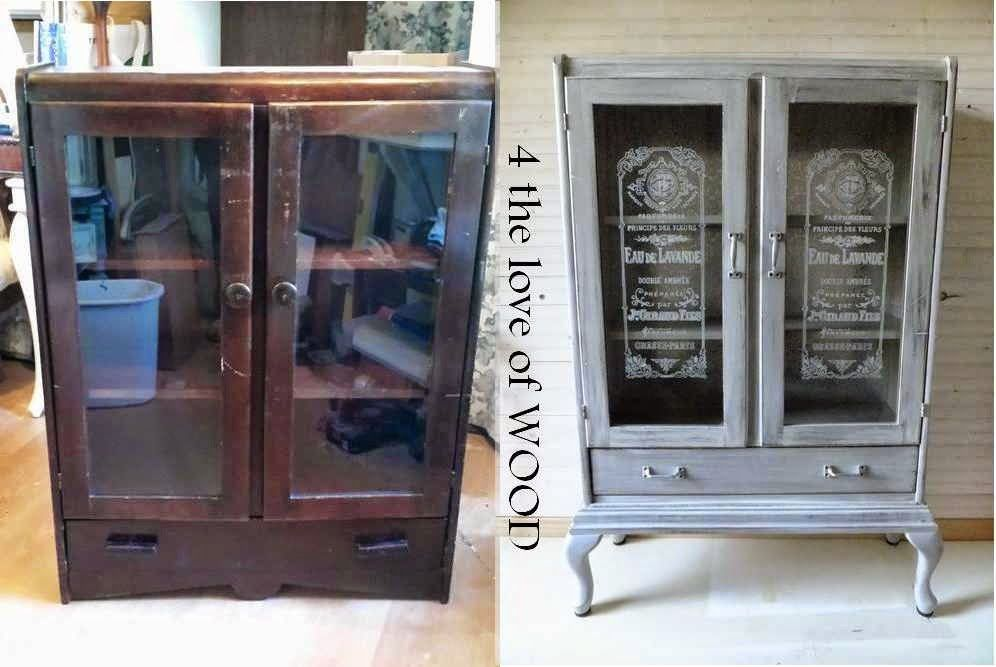 4 the love of wood: BEFORE AND AFTER - grey cabinet reveal Would make a great apothecary cabinet for my oils
