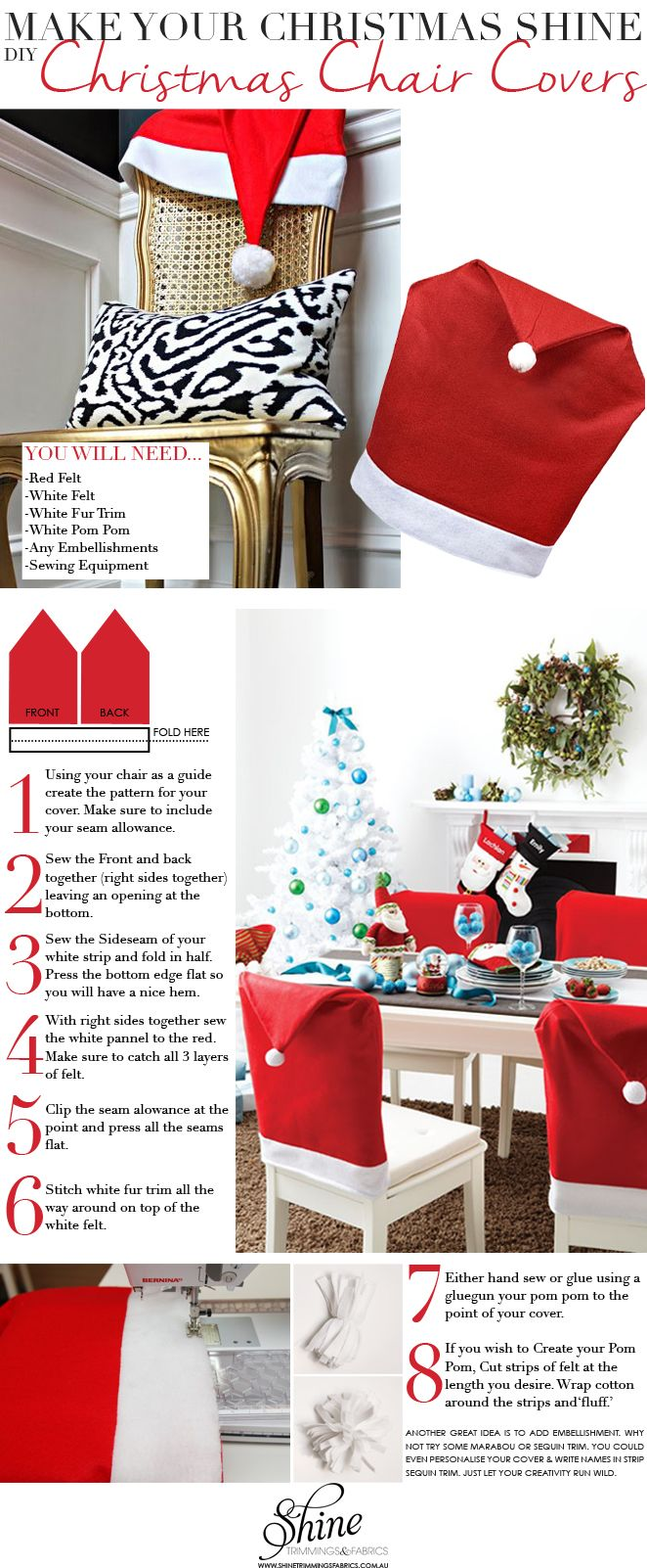 christmas chair covers pinterest cheap for dining room make your shine trimmings fabrics