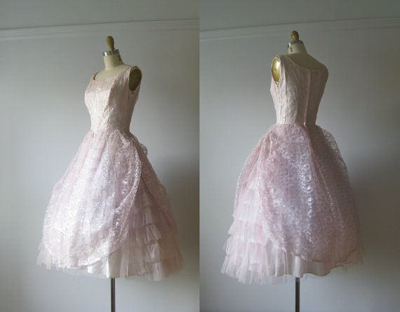 vintage 1950s prom dress / Cotton Candy Clouds | 1950s prom dress ...