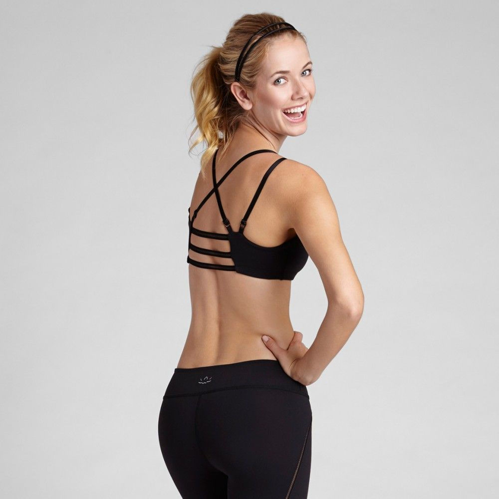 Strappy back bra yoga pinterest tangled changue and love this