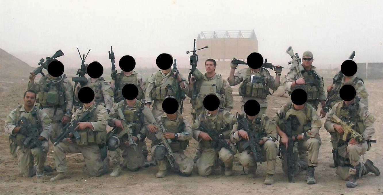 SEAL TEAM 3, Ramadi, Iraq, Summer 2006. Left to Right