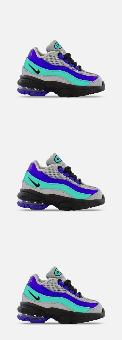 save off 06c8a a74b3 Baby Shoes 147285  New Nike Baby Little Air Max 95 Toddlers Shoes  (905462-023) Grey Purple-Aqua -  BUY IT NOW ONLY   53.99 on  eBay  shoes   little  toddlers