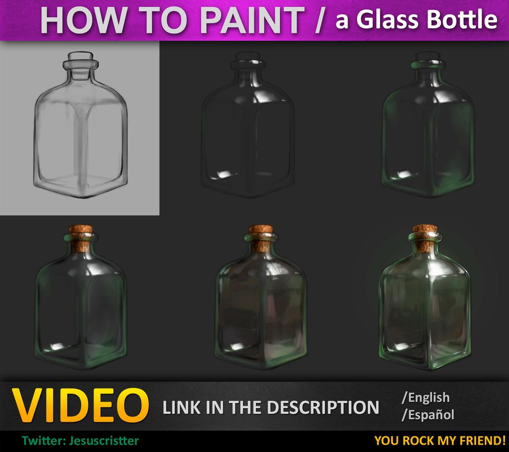 How To Paint Glass Tutorial By Jesusacondeiantart On @deviantart