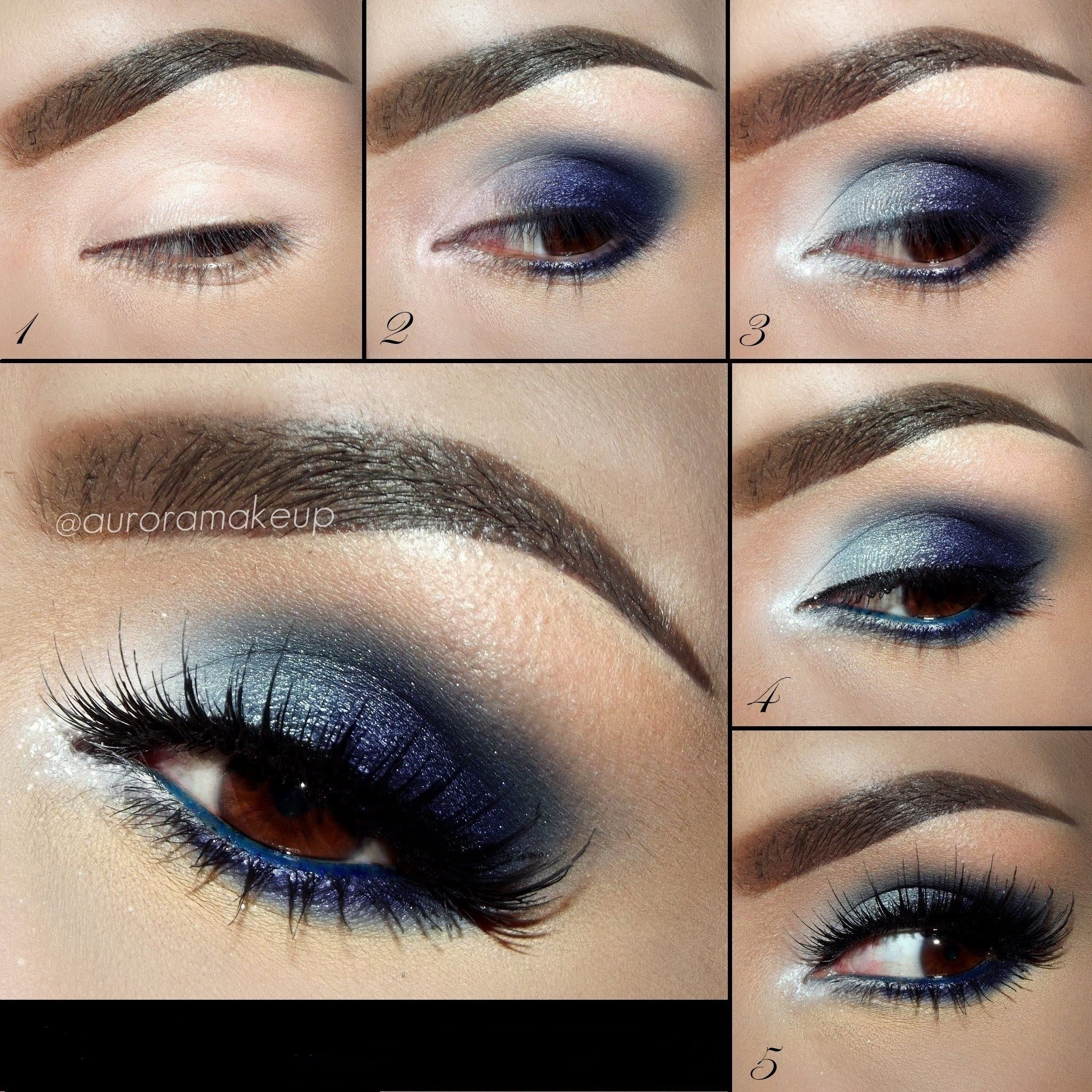 Blue smokey eye makeup for brown eyes decorativestyle eyeshadow for brown eyes blue smokey eye makeup tutorials baditri Image collections