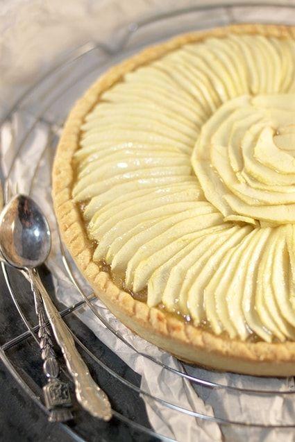 Tarte aux pommes (compote à la vanille) | Recette | Tarte ...