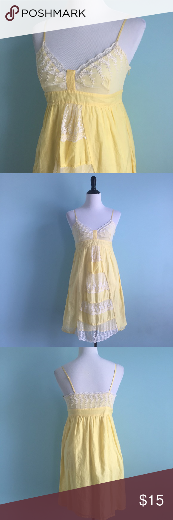 Yellow Lacey Dress | Charlotte russe dresses, Yellow dress and White ...