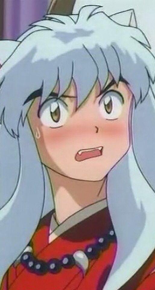Blushing Inuyasha Inuyasha