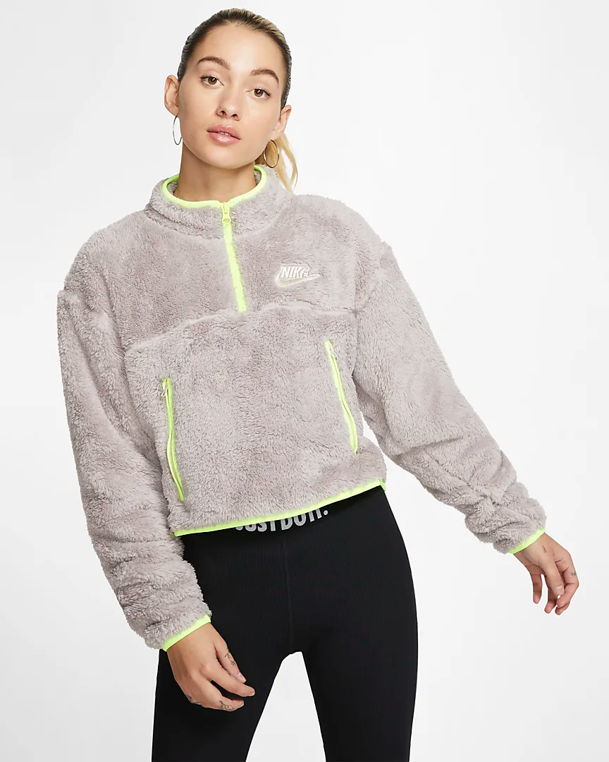 nike fleece 1/4 zip pullover women's