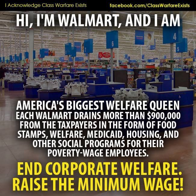 Walmart  One Of The Largest Welfare Queens In The Country