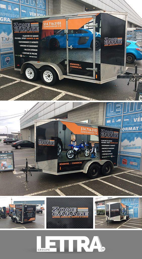 Wrap remorque Trucks, Garage, Vehicles