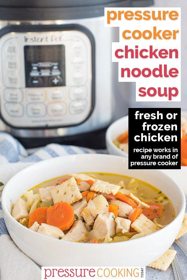 instant pot / pressure cooker chicken noodle soup  recipe