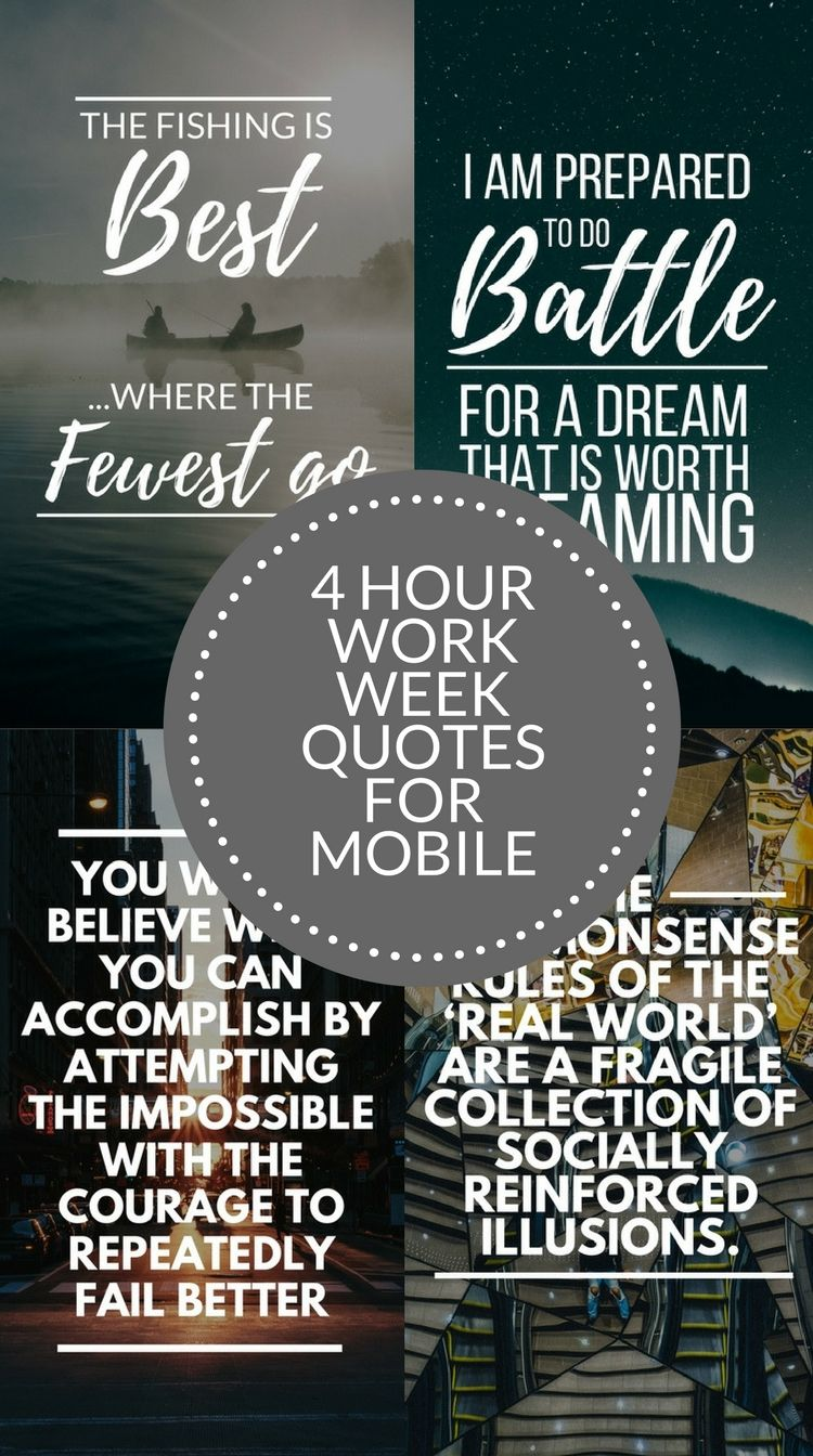 Best 50+√ 4 Hour Work Week Quotes