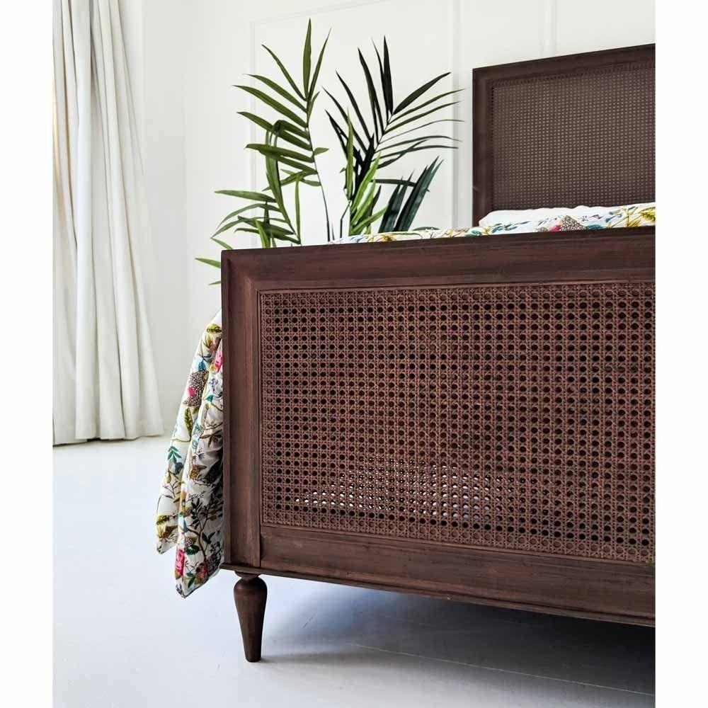 Rafferty Rich Rattan Low Footboard Bed in 2020 Rattan