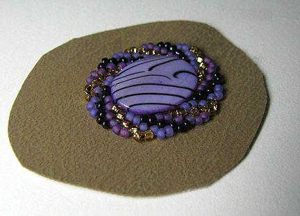 Cellini Spiral Stitch Tutorial | stitch down flat oval beads and add stitched down