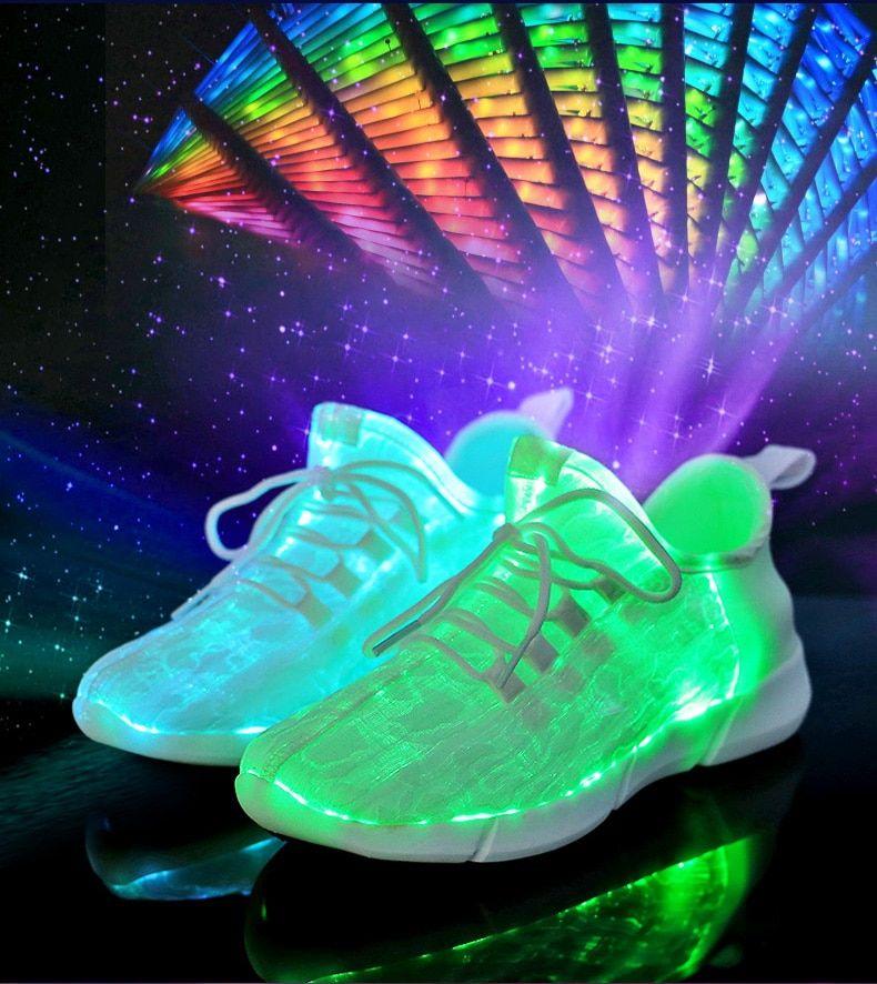 New Light-Up Fiber Optic Sneakers | My