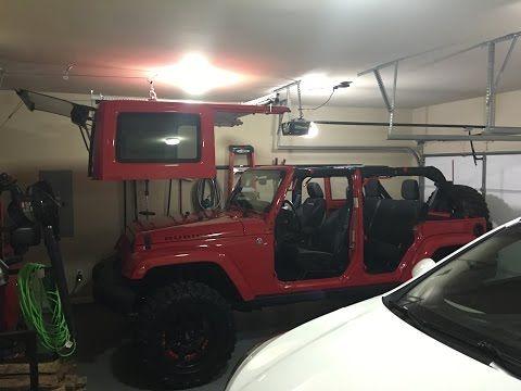 Jeep Wrangler Diy Top Hoist System Diy Jeep Jeep Hard Top Jeep Wrangler