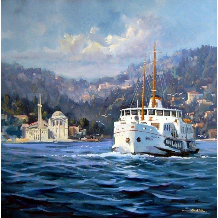 Yagli Boya Istanbul Bogazi Manzaralari Google Da Ara Resim Ahsap Tual Pinterest Oil Paintings And Sanat