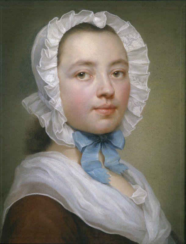 ** Pastel sobre papel azul. Autorretrato de Therese Concordia Mengs-Maron (1745). -84