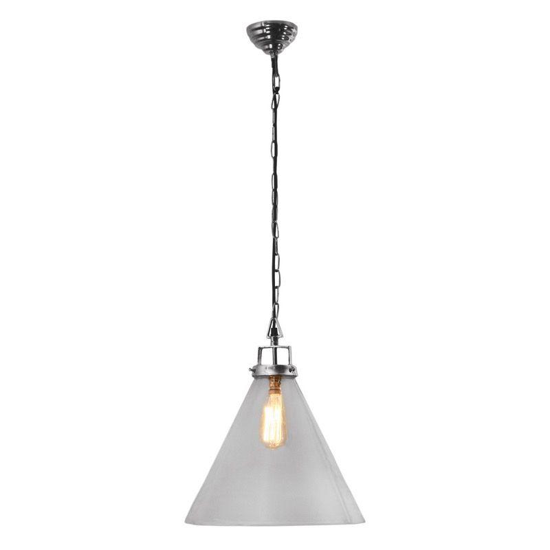 Pendant Light In Nickel Silver Or Copper W Gl