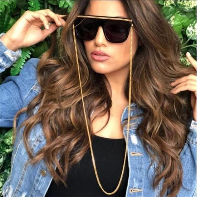 Large Oversized Cat Eye Womens Sunglasses Metal Frame Flat Top Gradient Lens