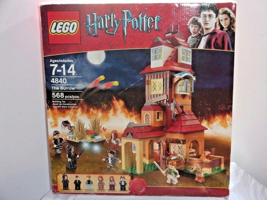 Lego Harry Potter The Burrow 4840 Retired Factory Sealed New Bellatrix Weasley Burrow Potter Lego Harry Potter Lego Sets Harry Potter Kids Lego Harry Potter