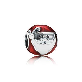 Jolly Santa Enamel & Silver Charm - PANDORA