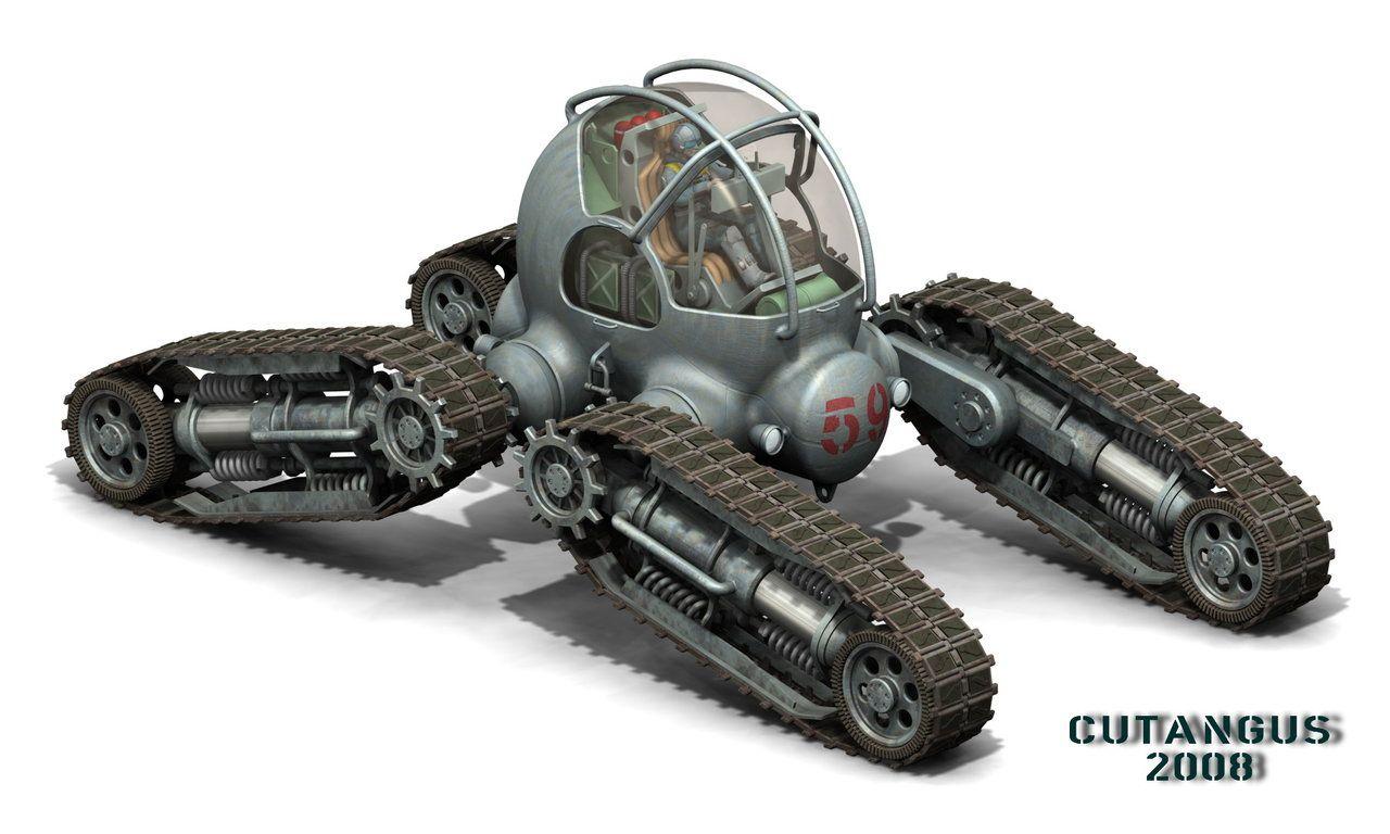 four track all terrain vehicle by on deviantart futuristic. Black Bedroom Furniture Sets. Home Design Ideas