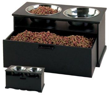 Pet Goods Dynasty Double Diner Raised Feeding Station with 3 Quart Bowls,$99.99